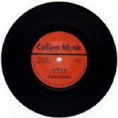 SALE ITEM - Unity Stars - Africa / Sir Collins & Big Dread - Blood & Fire (Collins Music) UK 7""